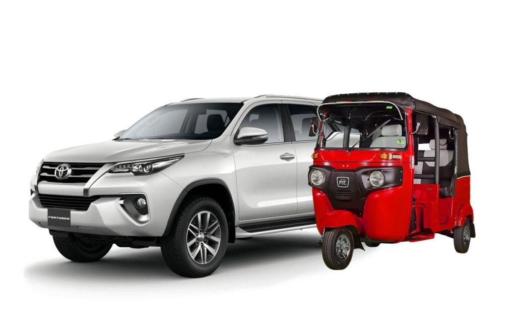 tuk-tuk vs Toyota Fortuner