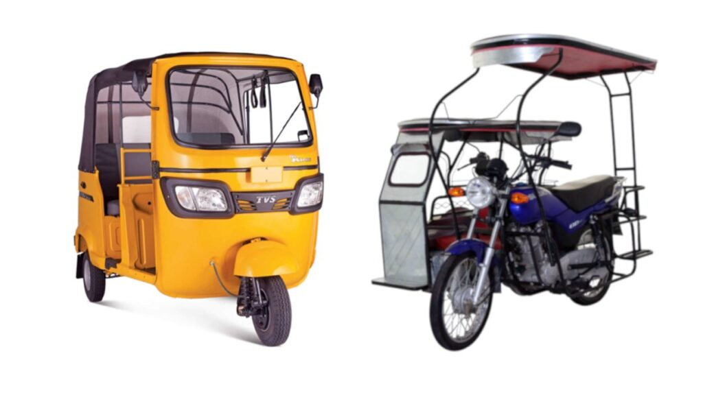 TVS King vs Tricycle