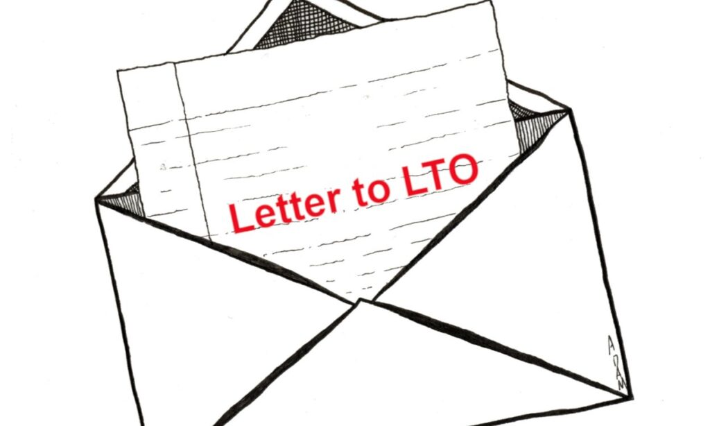 Letter to LTO