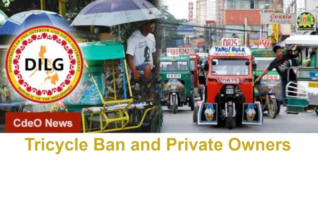 Tricycle ban Private owners