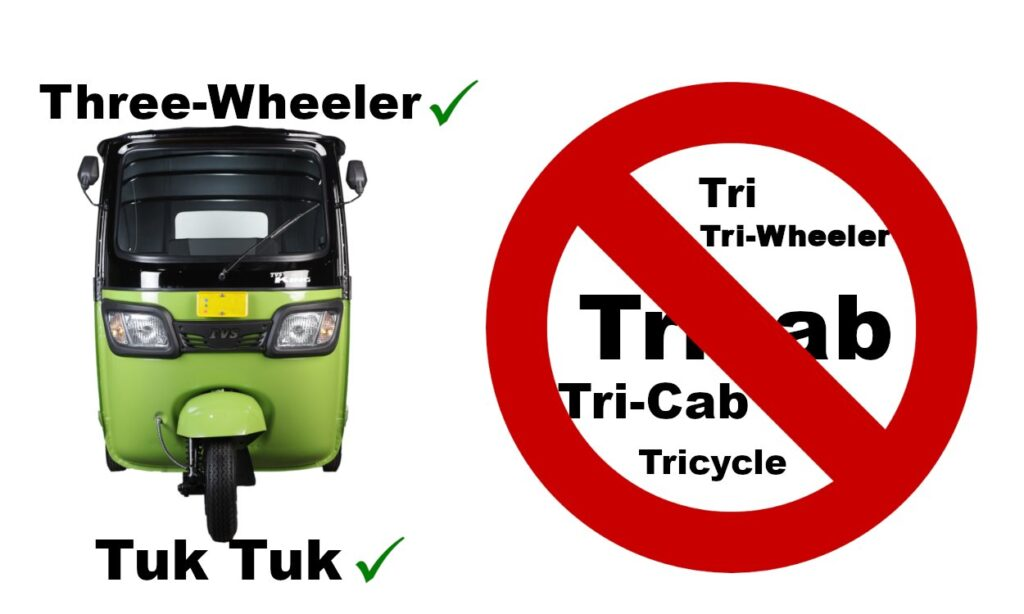 not a tricab or a tricycle