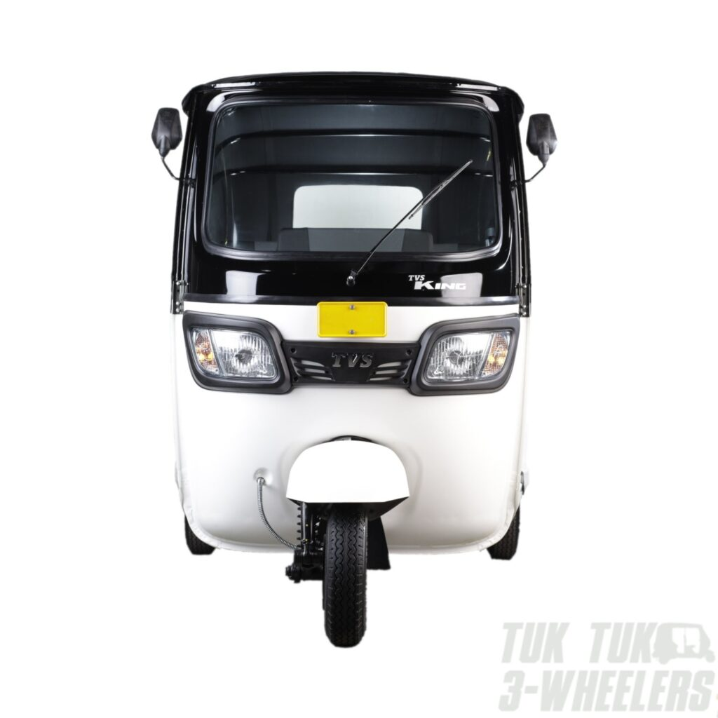 TVS King White Front View