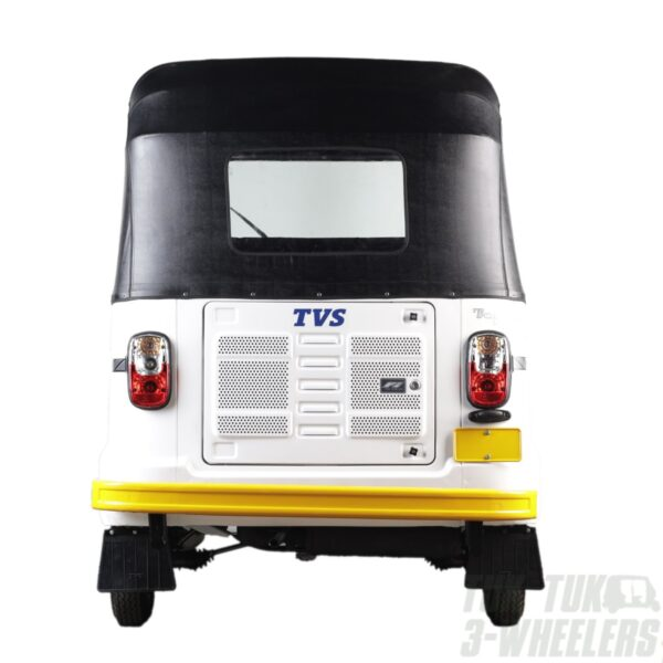 TVS King White tuk tuk