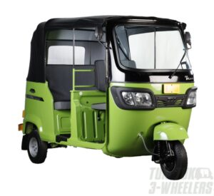 TVS King Deluxe GS+ FI Three Wheeler Lime Green