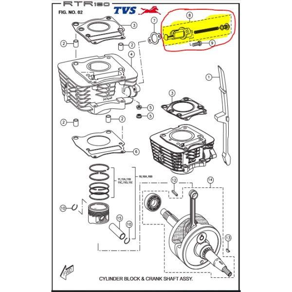 TVS King Tensioner Adjuster Assembly Genuine TVS Part M1010180