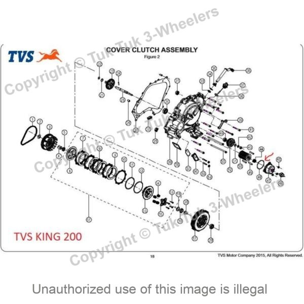 TVS King o-ring diagram