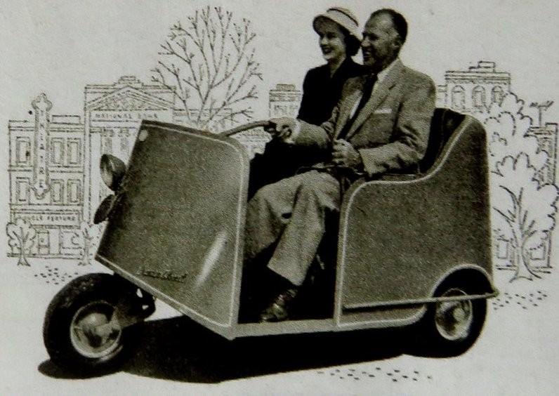 Autoette three-wheeled car