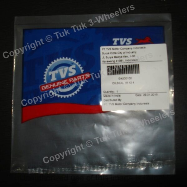 TVS King Clutch Release Rod Oil Seal 18 12 4 Genuine TVS Part G4200100