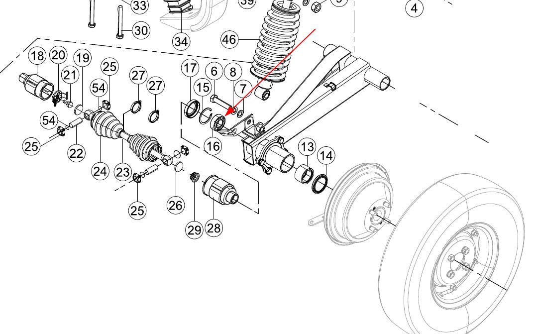 TVS King Rear Axle Ball Bearing