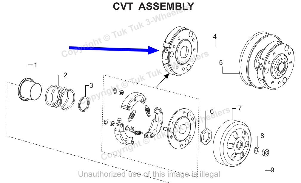 TVS Dazz Clutch Diagram