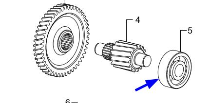 TVS Dazz Rear Wheel Shaft Ball Bearing