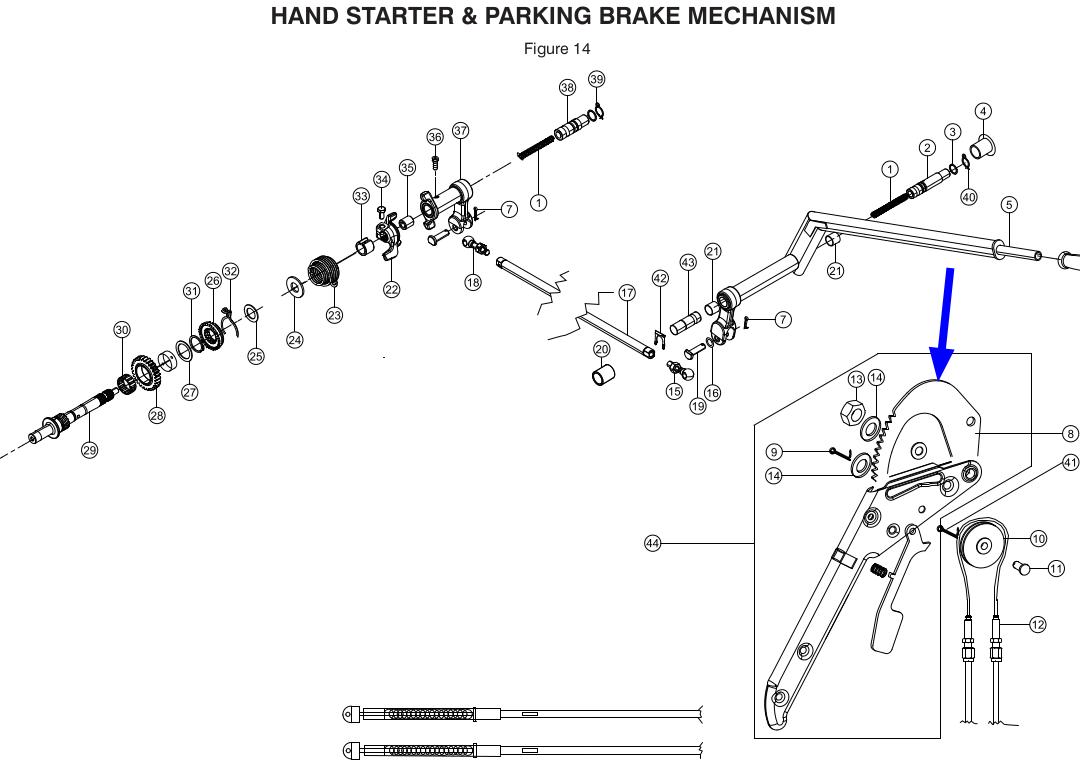 TVS King Parking Brake Rachet Genuine TVS Part G2110770