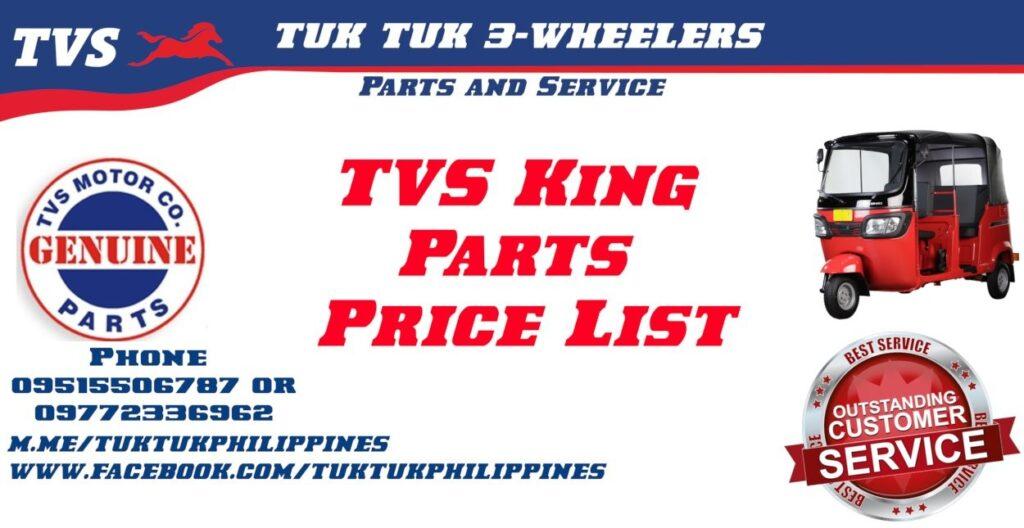 TVS King Spare Parts Price List