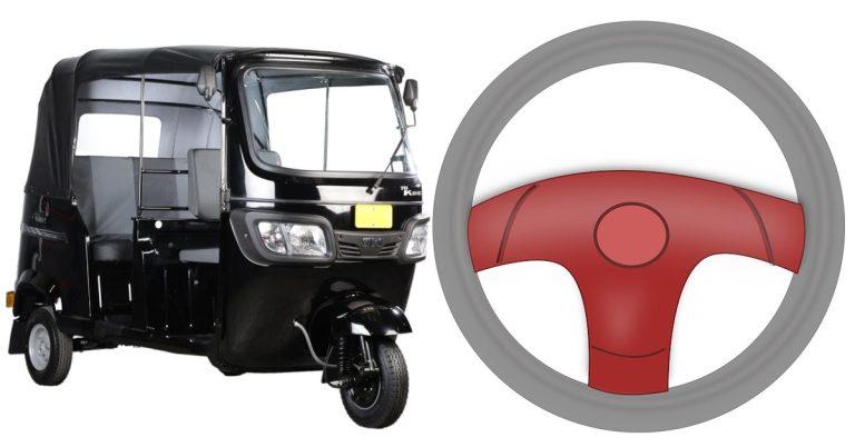 Fitting a Steering Wheel in a Tuk Tuk TVS King – Bajaj RE