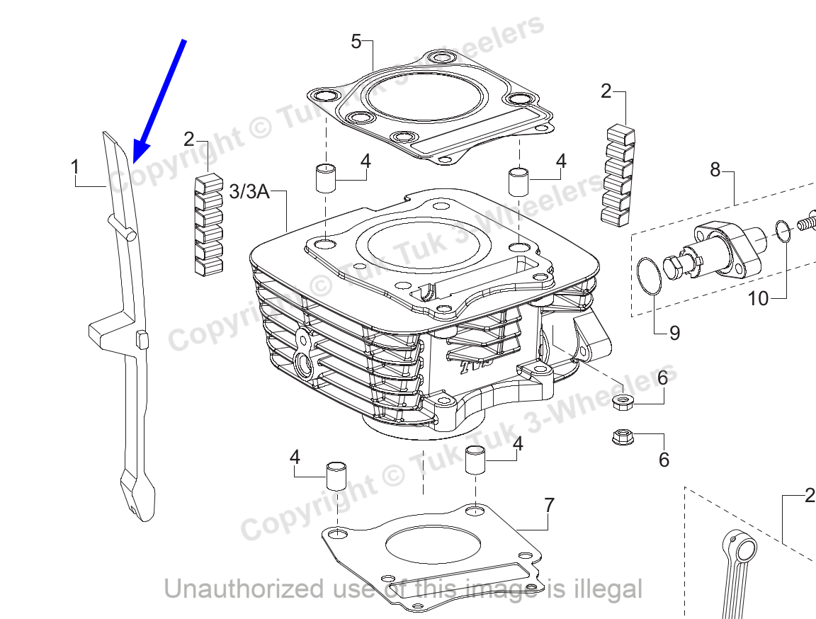 TVS Apache RTR 160 Cam Chain Guide Genuine TVS Part M1010250