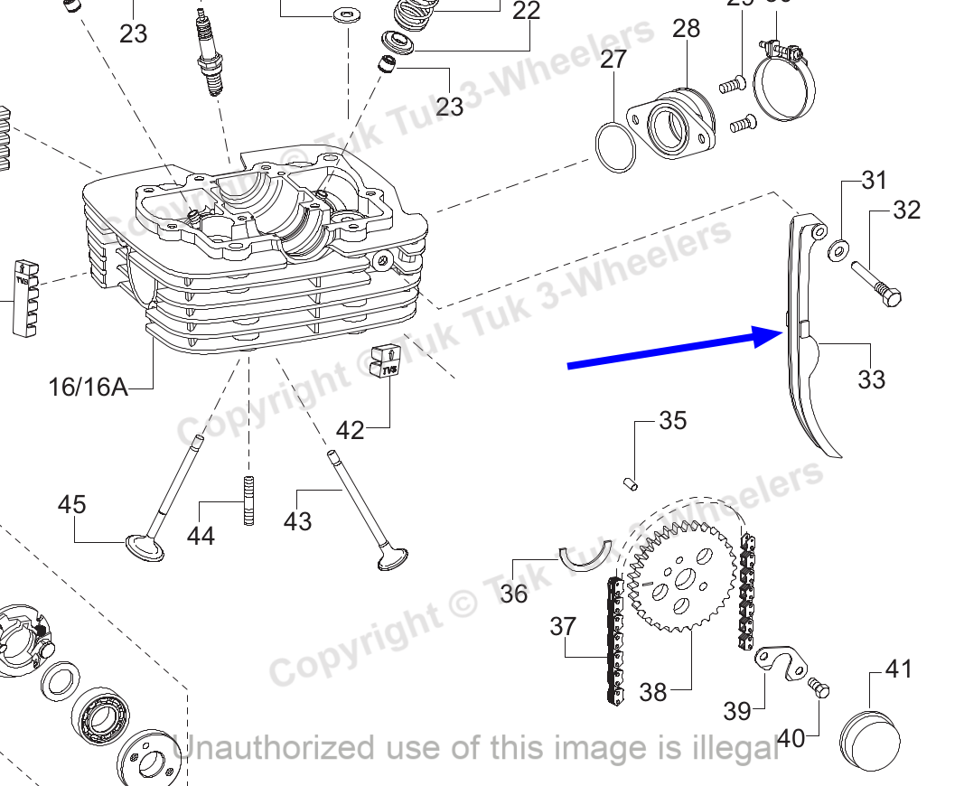 TVS Apache RTR 160 Cam Chain Tensioner Genuine TVS Part M1080990