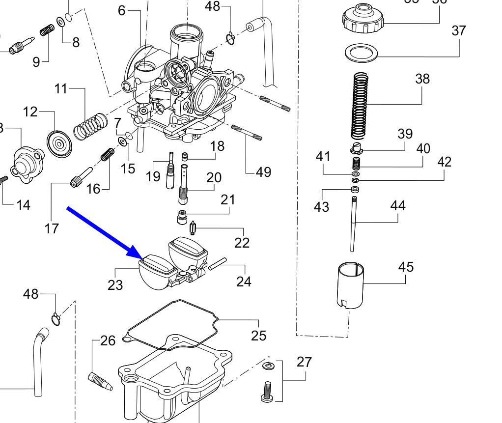 TVS Dazz Carburettor Float