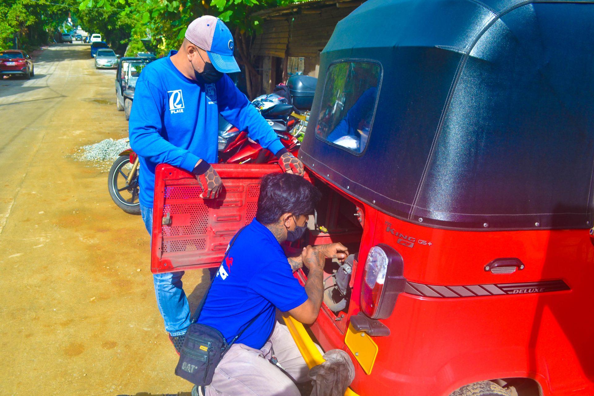 Ken doing an Oil Change