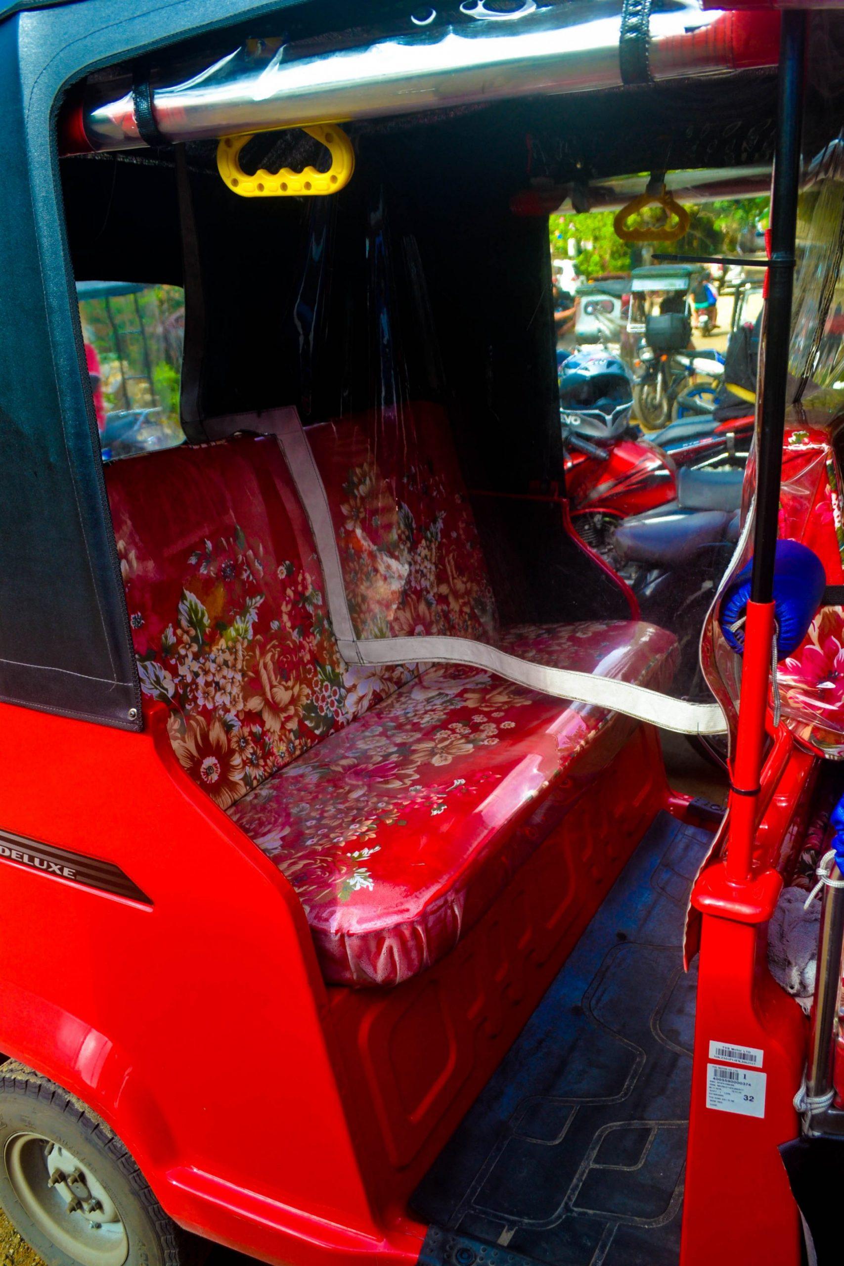 Modified rear seat in TVS King