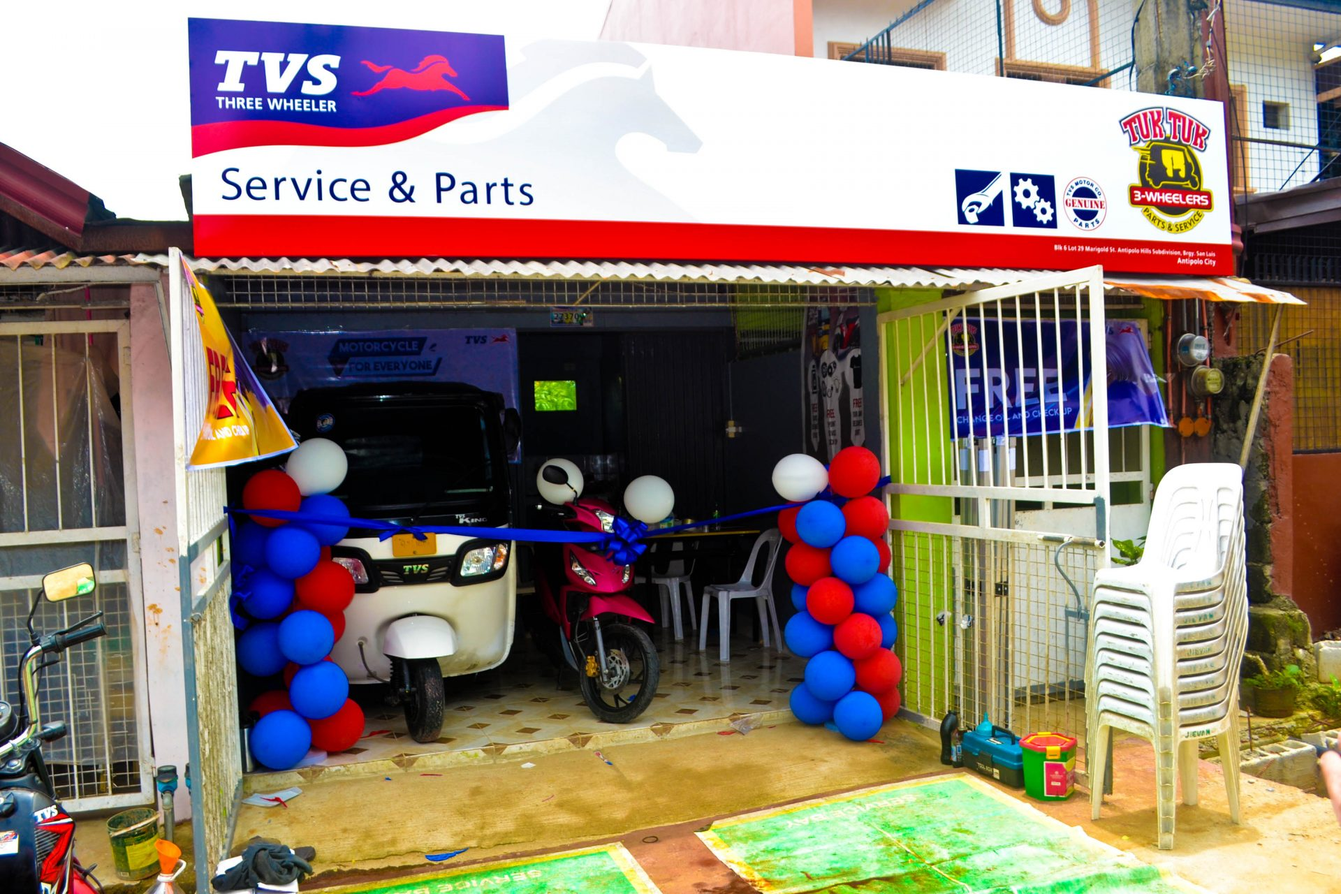 Tuk Tuk 3-Wheelers Antipolo Opening Day Photo Gallery TVS King Number One for Perfomance