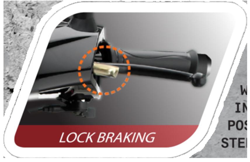 TVS Dazz Lock Braking