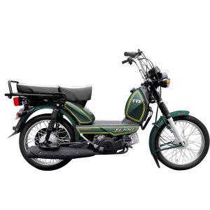 TVS XL 100 Premium Army Green side